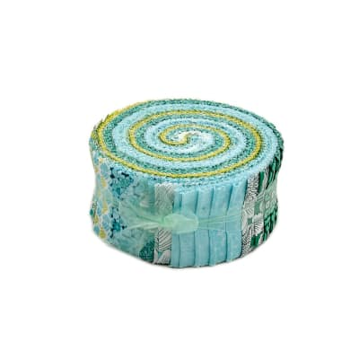 "Liberty Garden Blue 2.5"" Pinwheel Stripes"