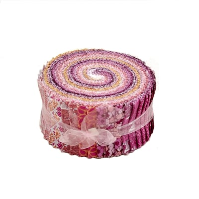 "Liberty Garden Pink 2.5"" Pinwheel Stripes"