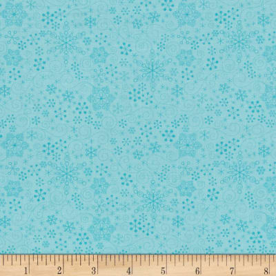 Contempo Mulberry Lane Snowflake Light Turquoise