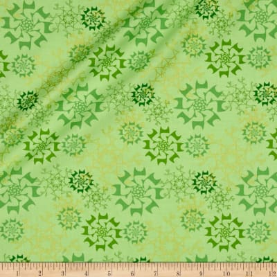 Contempo Merry Little Christmas Metallic Snowflake Lime