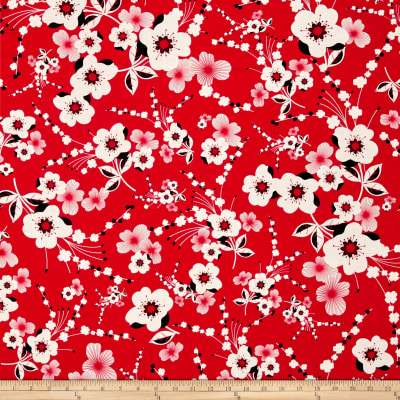 Kanvas Moon Flower Plum Flower Red