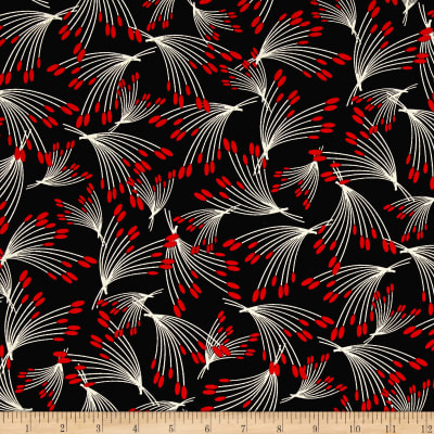Kanvas Moon Flower Oshi Stems Black/Red