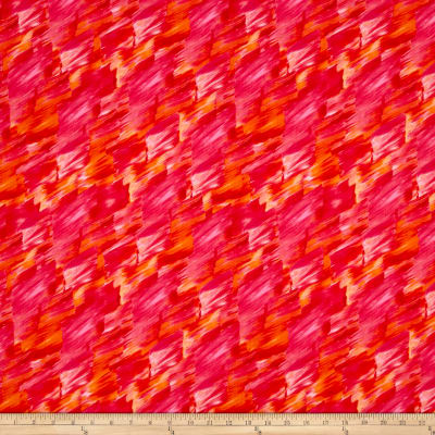 Kanvas Patio Splash Color Strokes Red/Orange