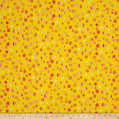 Kanvas Patio Splash Rainbow Dot Yellow