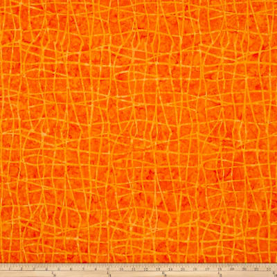 Colorama Batiks Wavy Plaid Tangerine