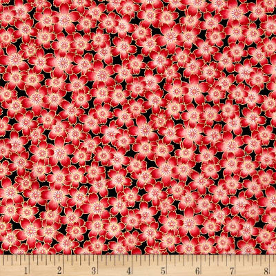 Butterfly Fandango Metallic Flower Fancy Red
