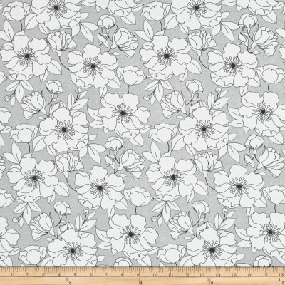The Coloring Collection Floral Gray