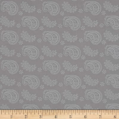 Silver Linings Paisley Toss Gray