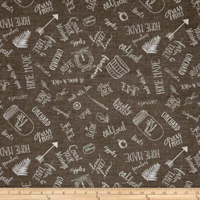 Freshly Picked Kitchen Toile Dark Gray