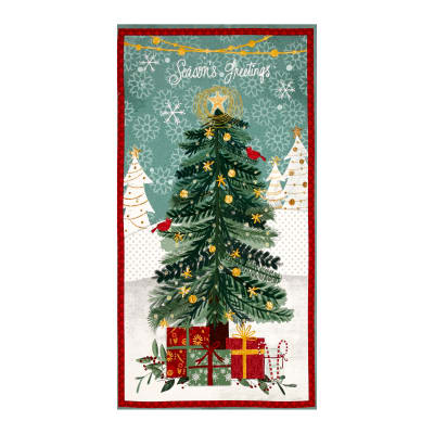 "Frosted Holiday Large 23"" Panel Multi"