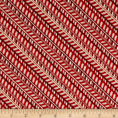 Santa's Big Night Candy Cane Stripe Red