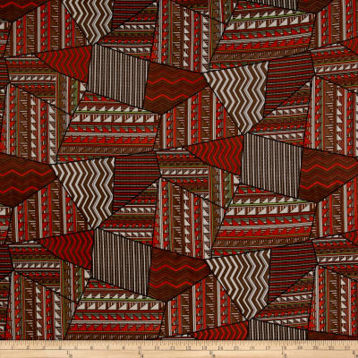 Chiffon Tribal Geo Orange/Brown