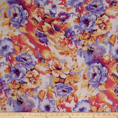 Chiffon Floral Painting Multi