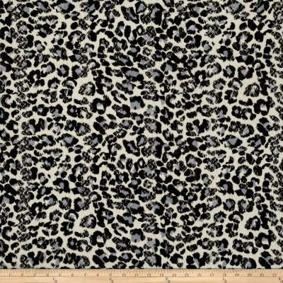 Stretch Lace Cheetah Print Black/Cream