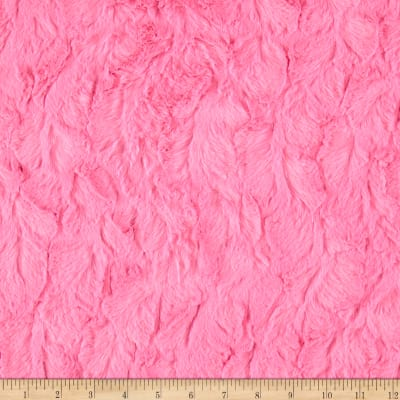Michael Miller Minky Solid Bella Snuggle Hot Pink