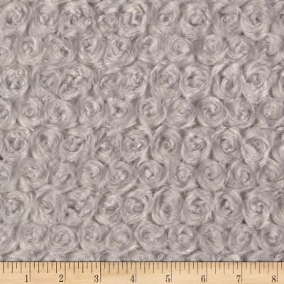 Michael Miller Minky Solid Rosebud Snuggle Silver