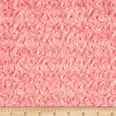 Michael Miller Minky Solid Rosebud Snuggle Coral