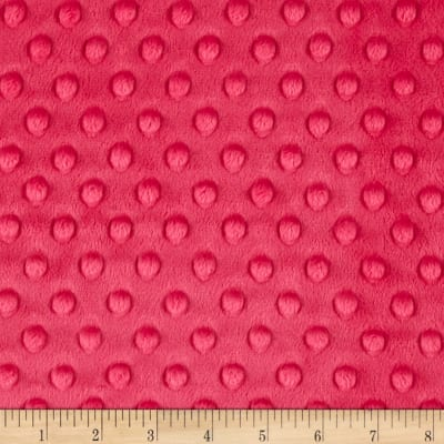 Michael Miller Minky Solid Dot Hot Pink