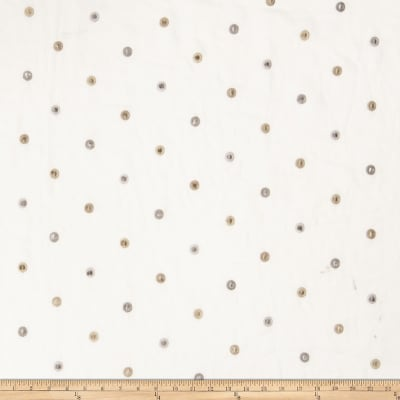 Fabricut Ajax Polka Dot Linen Blend Natural