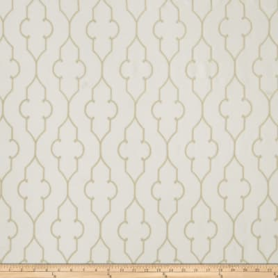 Fabricut Akers Lattice Faux Silk Parchment