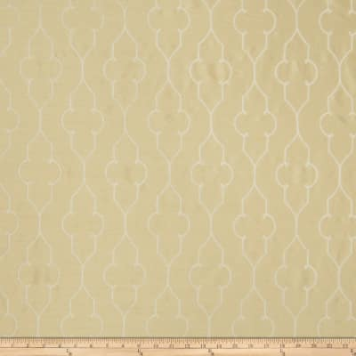 Fabricut Akers Lattice Faux Silk Buttercream