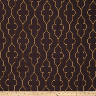 Fabricut Akers Lattice Faux Silk Aubergine