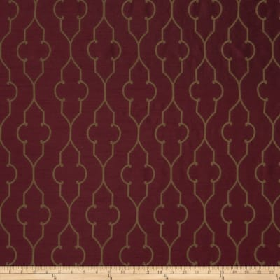 Fabricut Akers Lattice Faux Silk Merlot