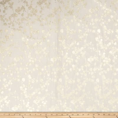 Fabricut Cahors Floral Faux Silk Ivory