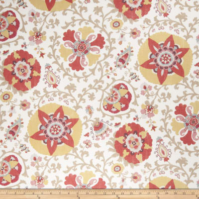 Fabricut Camille Suzani Linen Blend Curry