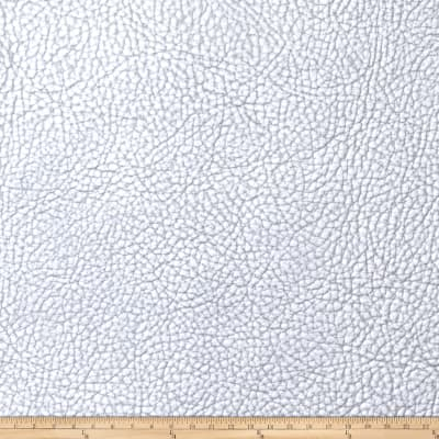 Fabricut Chemical Bond Faux Leather Silver