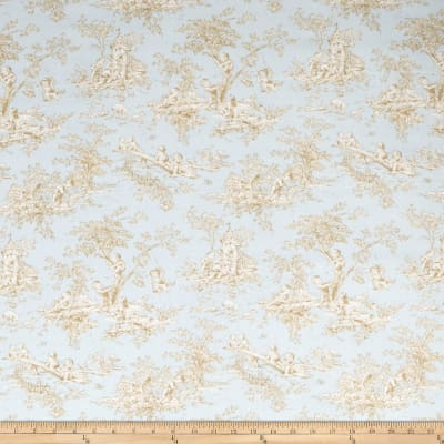 Fabricut Childhood Toile Linen Blend Breeze