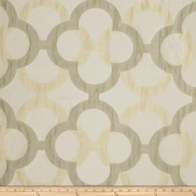 Fabricut Diego Lattice Faux Silk Moonstone
