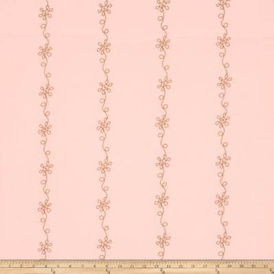 Fabricut Floral Ribbon Blush