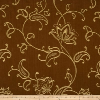 Fabricut Maple Lake Linen Blend Chocolate