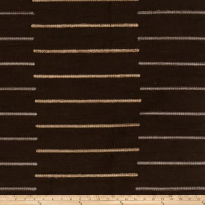 Fabricut Stripe-O-Rama Taffeta Dark Chocolate