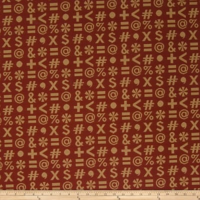 Fabricut Crypton Who,What,When? Red Accent