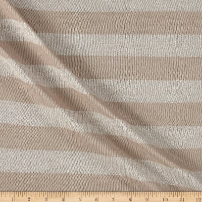 Sweater Knit Solver Stretch Stripe Khaki