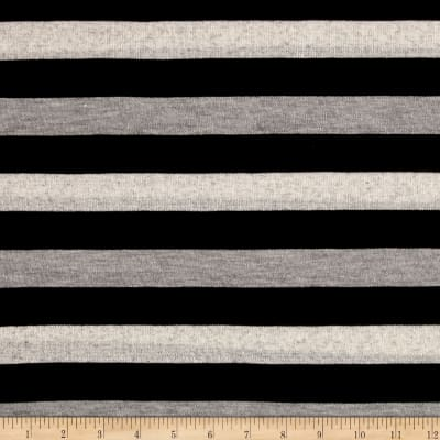 Sweater Knit Stripes/Black/Light Gray/Ivory