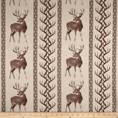 Tiverton Jacquard Deer/Antler Stripe Chocolate