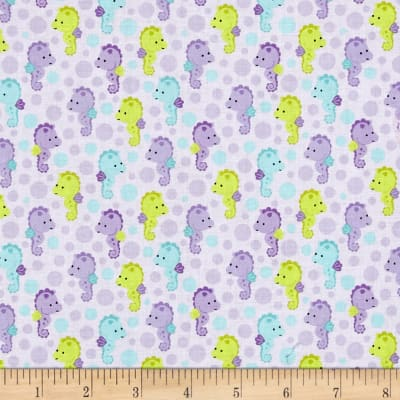 Riley Blake Under The Sea Seahorses Purple