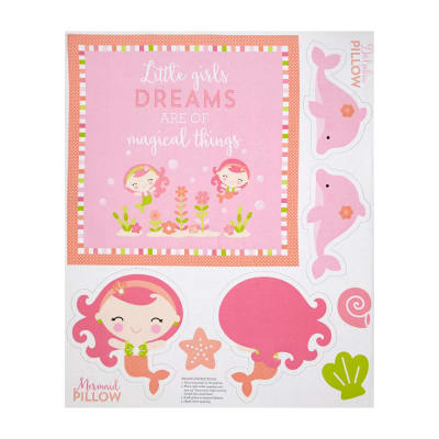 "Riley Blake Under The Sea 36"" Panel Pink"
