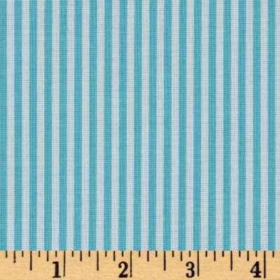 "Riley Blake 1/8"" Stripes Aqua"