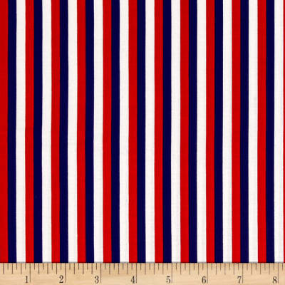 Riley Blake Lost & Found America Stripe Multi