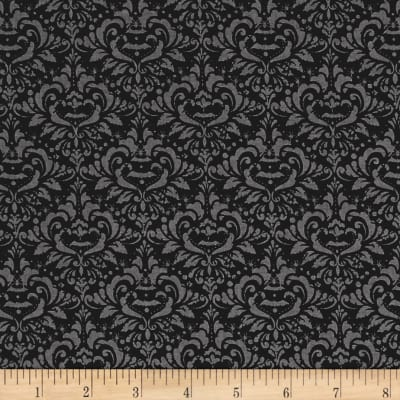 Riley Blake EEK BOO Shriek Damask Black
