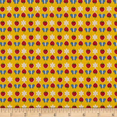 Penny Rose Gingham Girls Butterfly Yellow