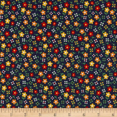 Penny Rose Gingham Girls Calico Navy