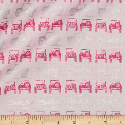 Riley Blake J is for Jeep Jeeps Pink