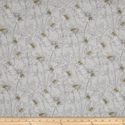 Bee Happy Tonal Floral & Bee's White