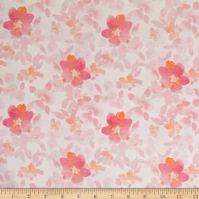 Happy Meadows Floral White/Pink