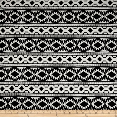 Rayon Challis Tribal Black/White